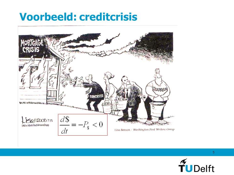 5 Voorbeeld: creditcrisis
