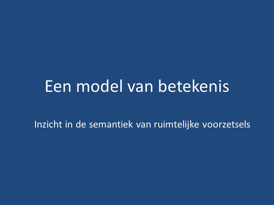 Een model van betekenis Inzicht in de semantiek van ruimtelijke voorzetsels