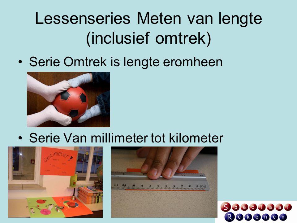 Lessenseries Meten van lengte (inclusief omtrek) Serie Omtrek is lengte eromheen Serie Van millimeter tot kilometer