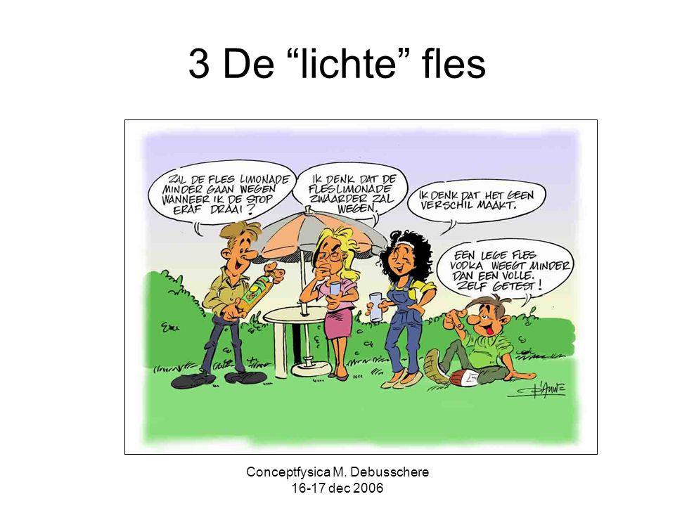 """Conceptfysica M. Debusschere 16-17 dec 2006 3 De """"lichte"""" fles"""