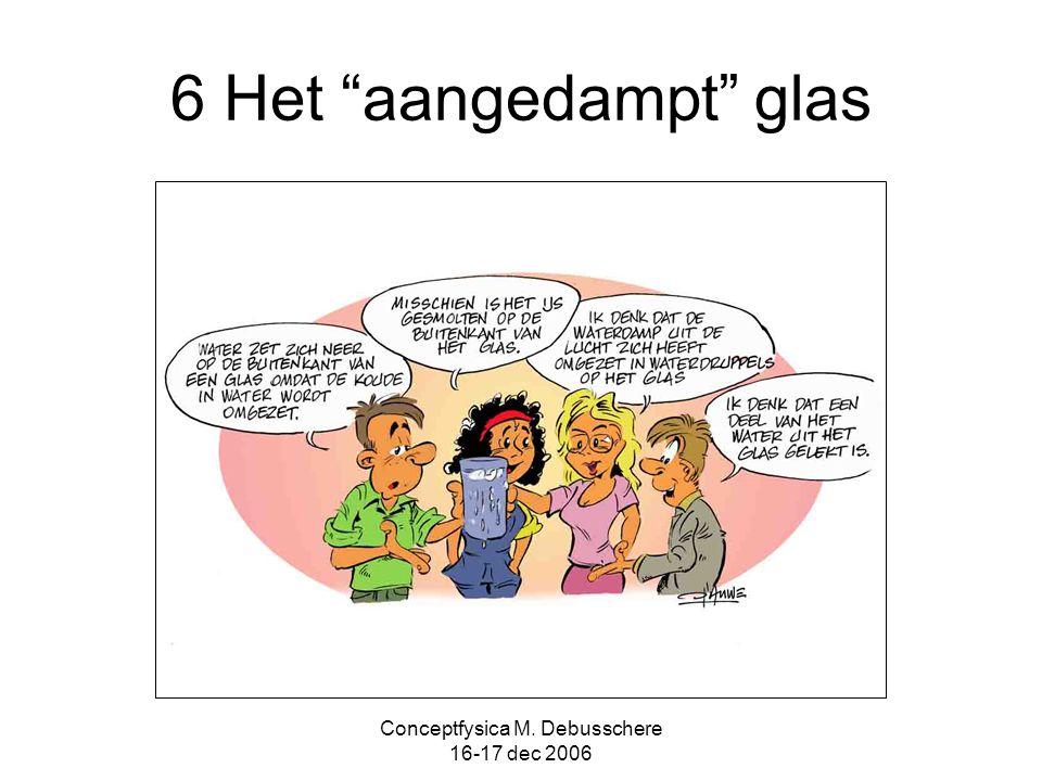 """Conceptfysica M. Debusschere 16-17 dec 2006 6 Het """"aangedampt"""" glas"""