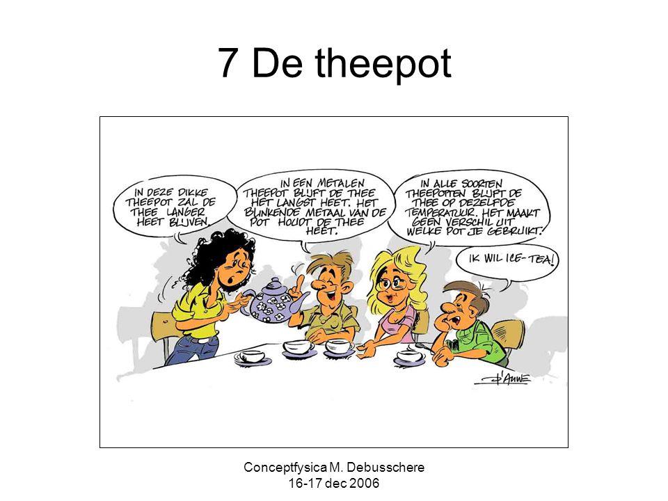 Conceptfysica M. Debusschere 16-17 dec 2006 7 De theepot