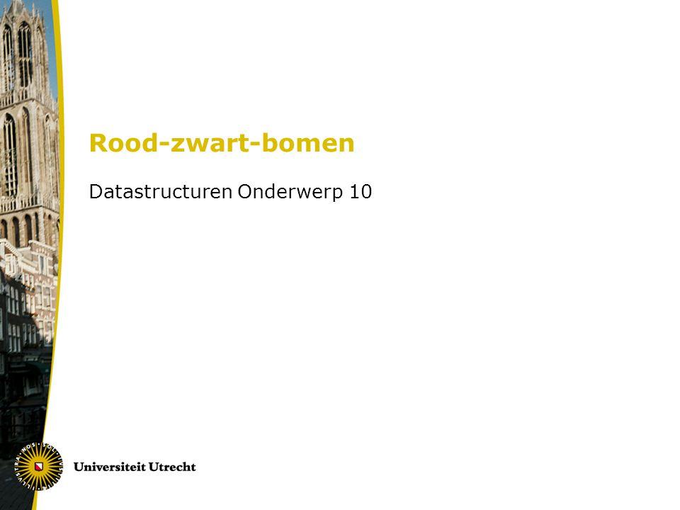 Rood-zwart-bomen Datastructuren Onderwerp 10