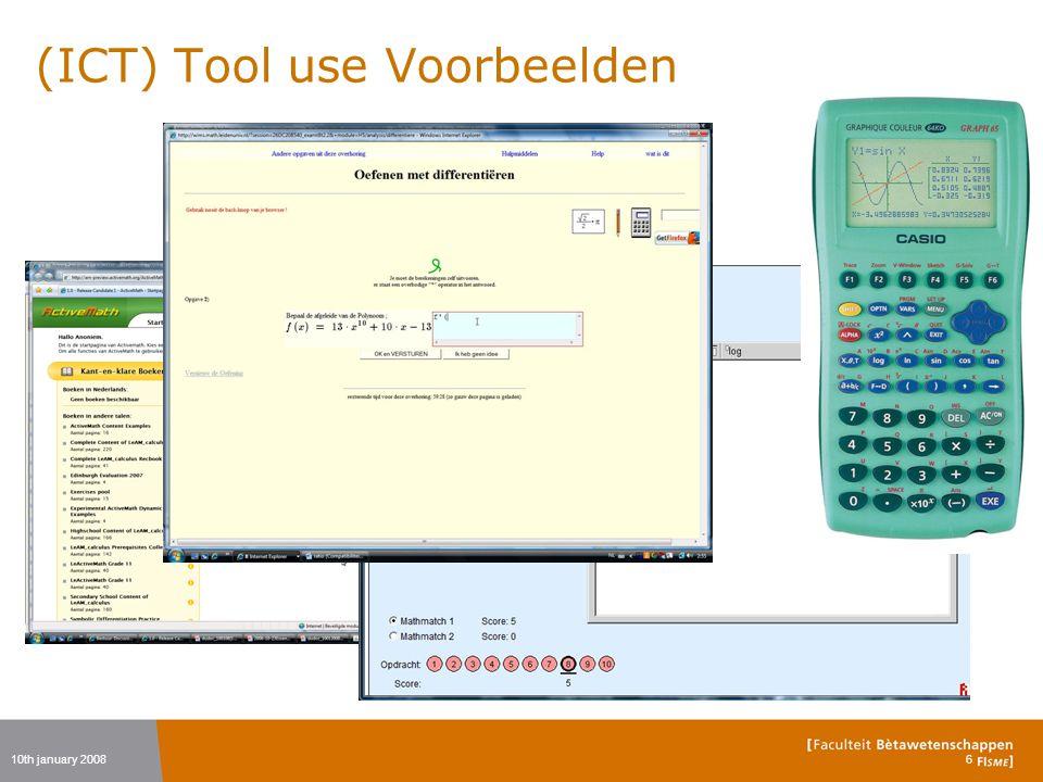 (ICT) Tool use Voorbeelden 10th january 20086