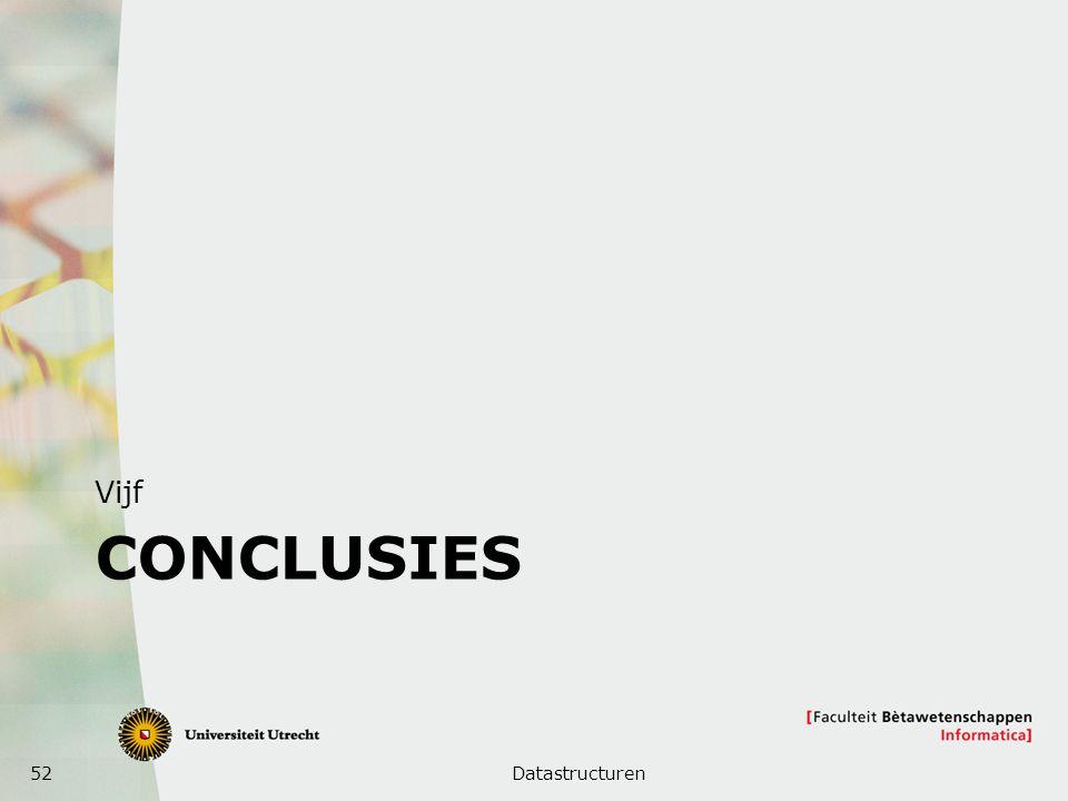 52 CONCLUSIES Vijf Datastructuren
