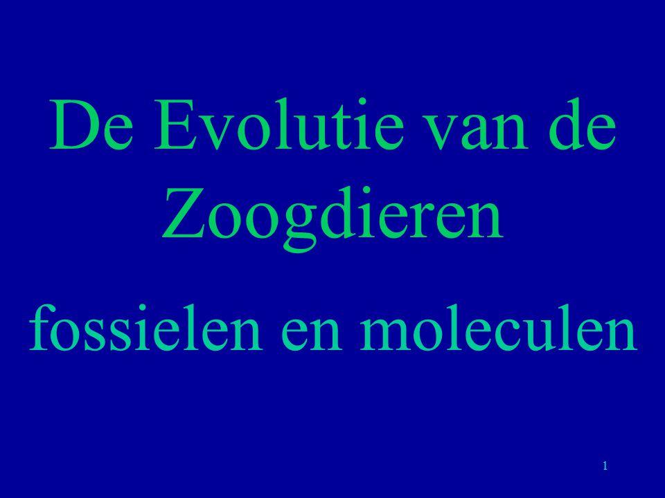 1 De Evolutie van de Zoogdieren fossielen en moleculen
