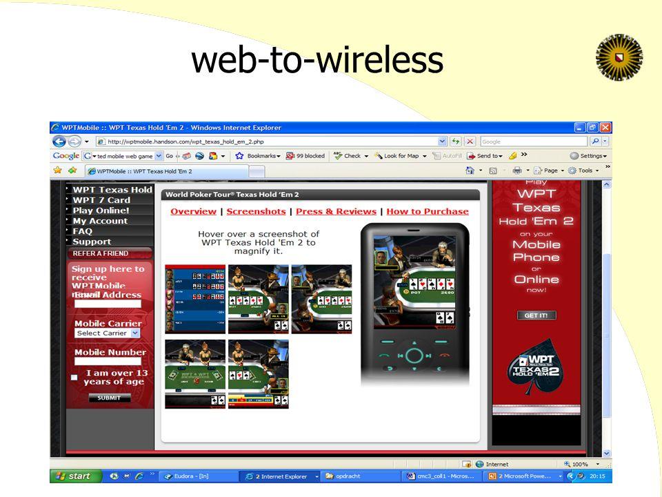 web-to-wireless