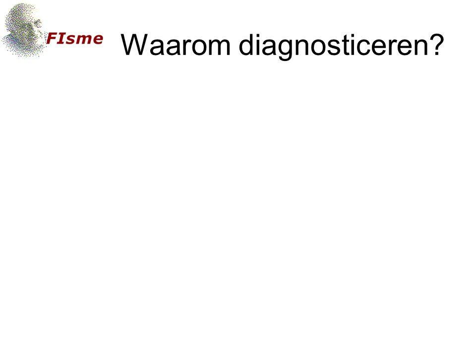 Waarom diagnosticeren?