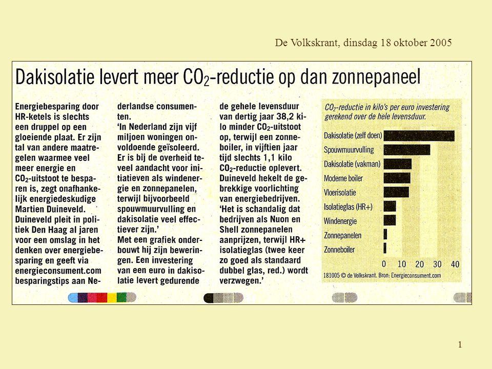 1 De Volkskrant, dinsdag 18 oktober 2005