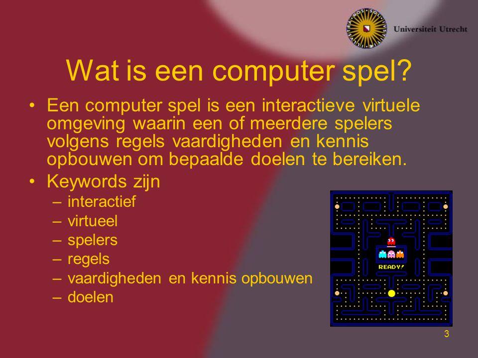 3 Wat is een computer spel.