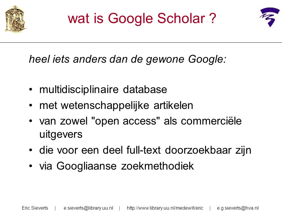 wat is Google Scholar .