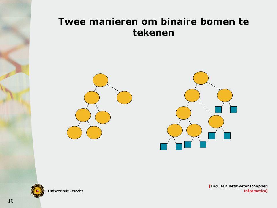 10 Twee manieren om binaire bomen te tekenen