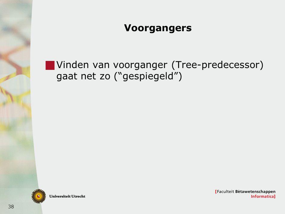 """38 Voorgangers  Vinden van voorganger (Tree-predecessor) gaat net zo (""""gespiegeld"""")"""