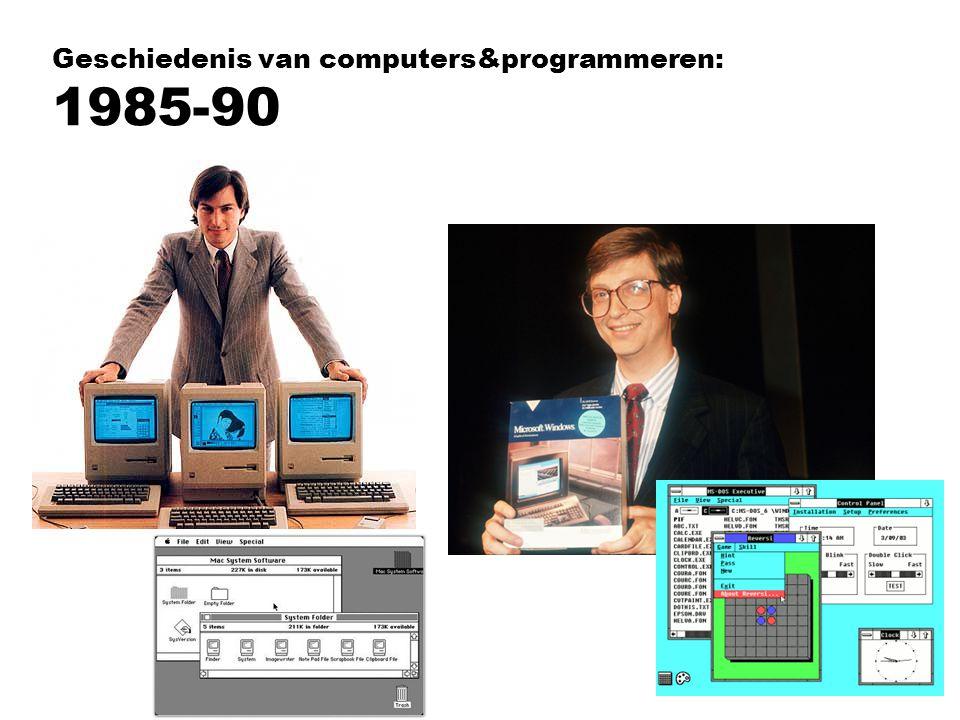 Geschiedenis van computers&programmeren: 1985-90