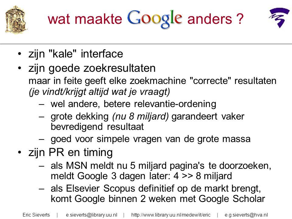 vakgebiedGoogle Scholar/ Web of Science variatie humaniora1,9 x0 -- 5,7 x sociale wetensch 0,7 x0,3 -- 1,6 x economie1,3 x0,3 -- 3,0 x biomedisch0,7 x0,7 -- 0,9 x natuurkunde0,6 x0 -- 2,0 x Google Scholar vs.