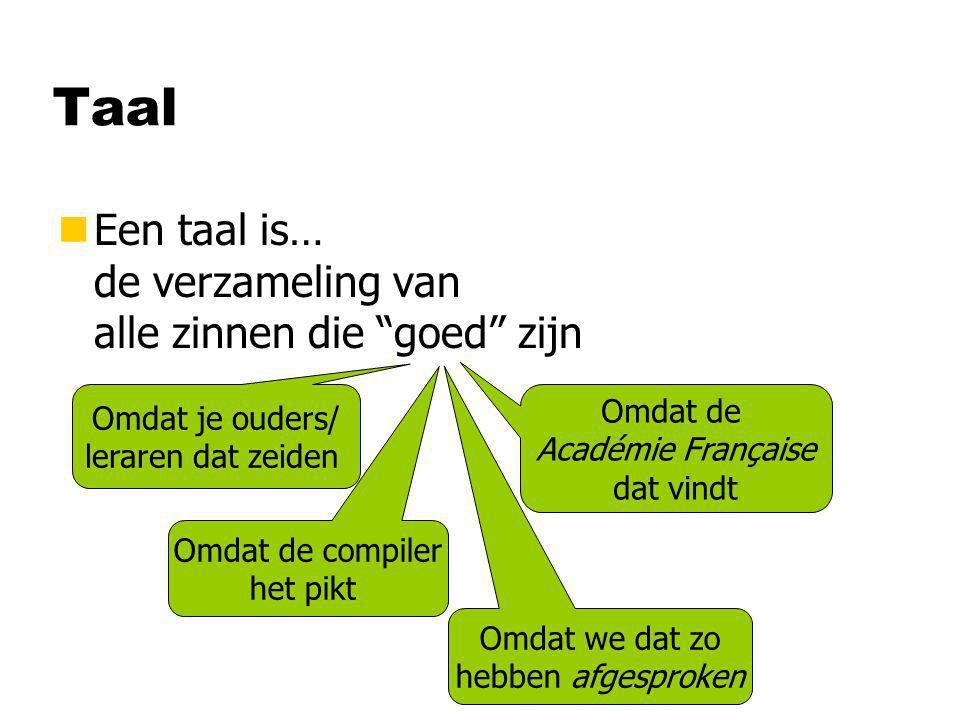 Ontleden nOntleden is… het herkennen van de structuur van een zin n…en daarmee aantonen dat hij tot een taal behoort …Onderwerp… …werkwoord… …Lijdend voorwerp… …Accolades… …puntkomma's… …Expressies… Correct Nederlands.