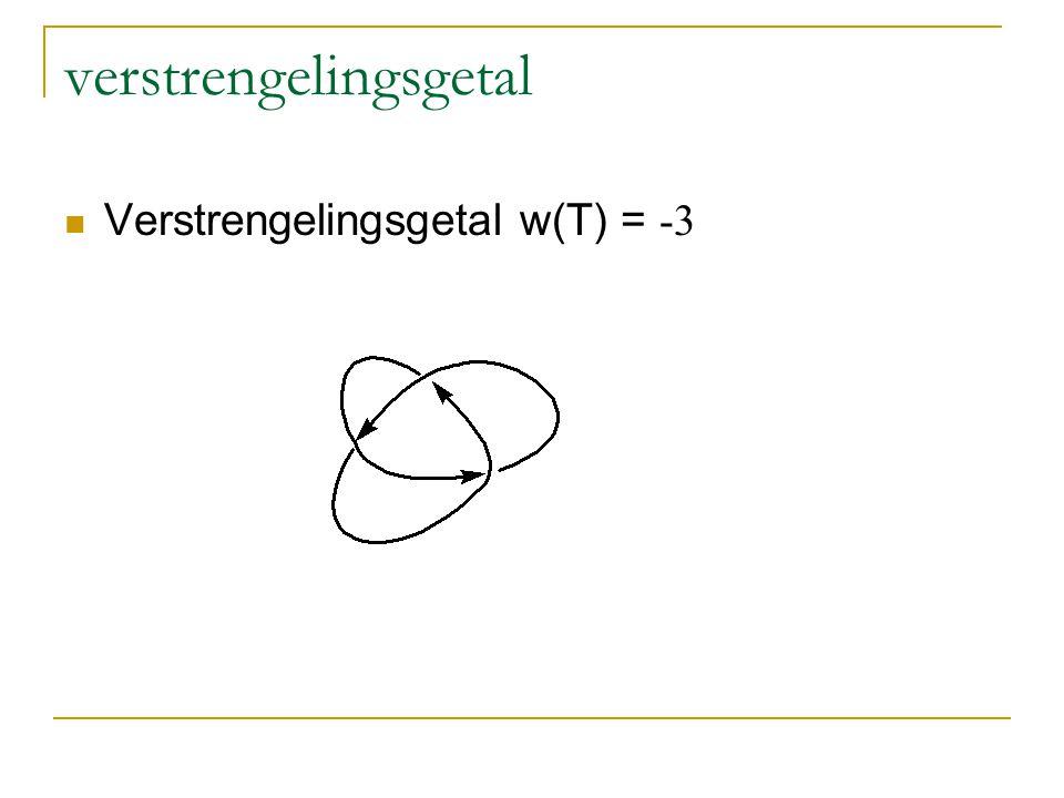 verstrengelingsgetal Verstrengelingsgetal w(T) = -3