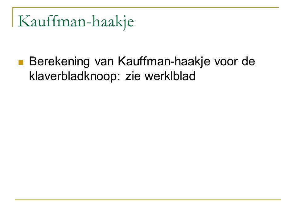 Berekening van Kauffman-haakje voor de klaverbladknoop: zie werklblad