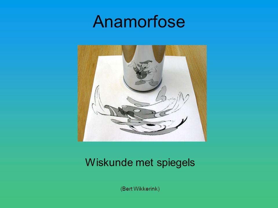Anamorfose Wiskunde met spiegels (Bert Wikkerink)