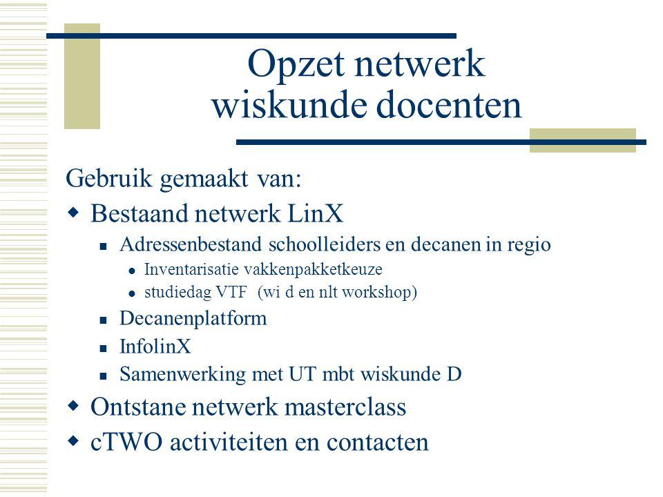 Samenwerking Saxion-VO (technische opl)  Saxion techniek opl ontevreden wiskunde niveau instroom: oplossing in LinX verband (samenwerking VO-Mbo-HO )
