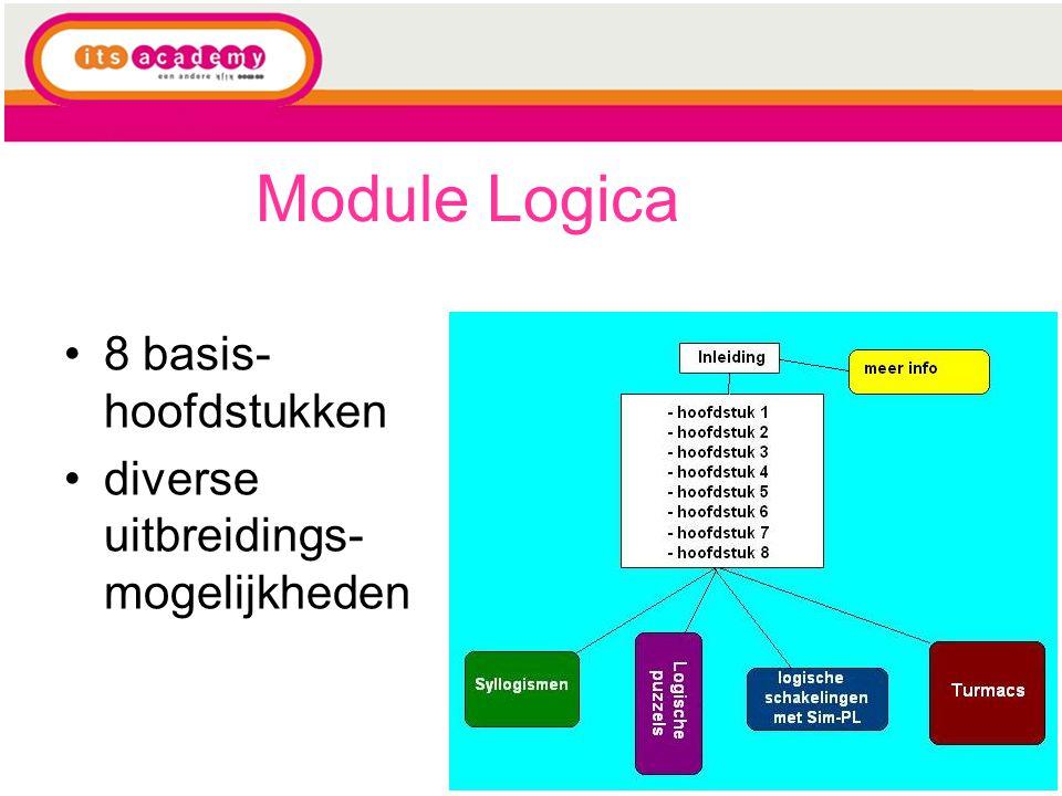 Module Logica 8 basis- hoofdstukken diverse uitbreidings- mogelijkheden