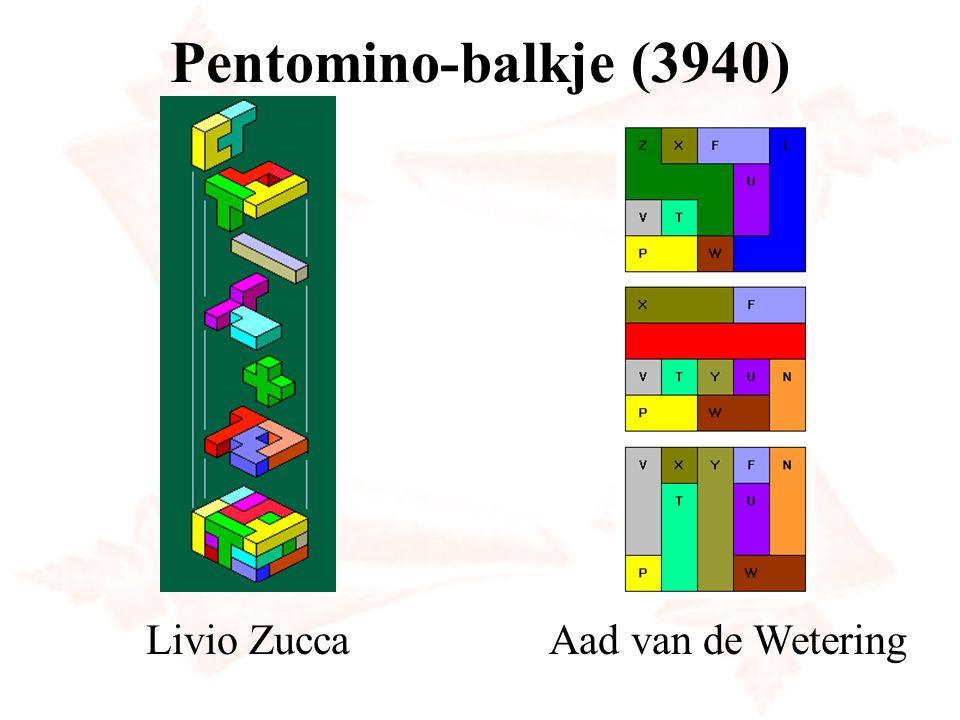 Pentomino-balkje (3940) Livio ZuccaAad van de Wetering