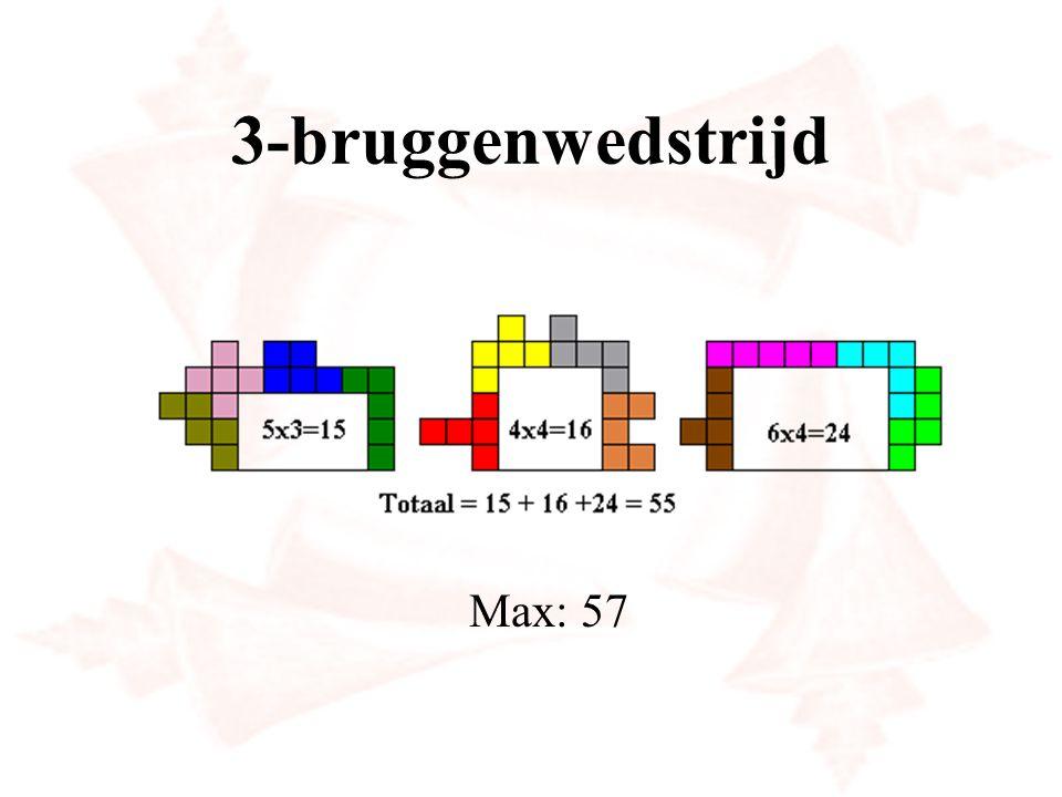 3-bruggenwedstrijd Max: 57