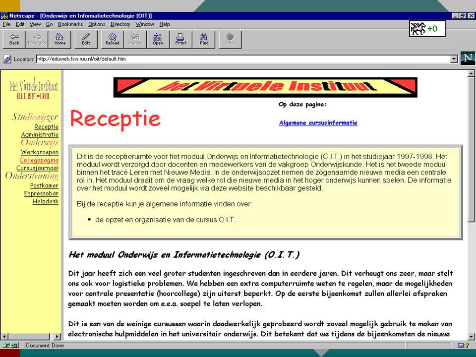 Het web in transmissie- scenario's OrganisatieOrganisatie InformatieInformatie CommunicatieCommunicatie