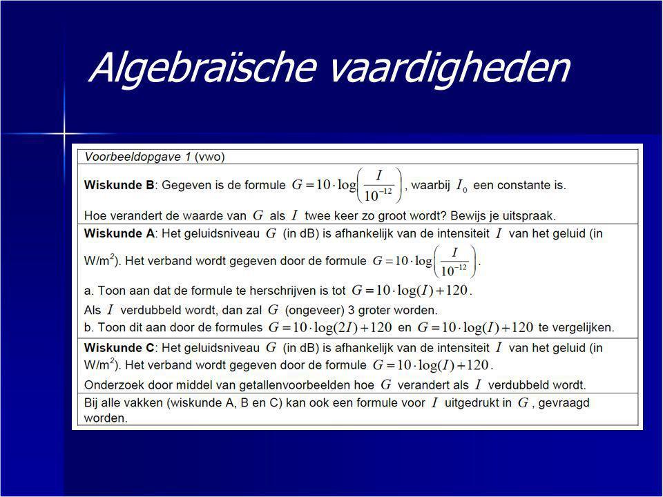 Algebraïsche vaardigheden