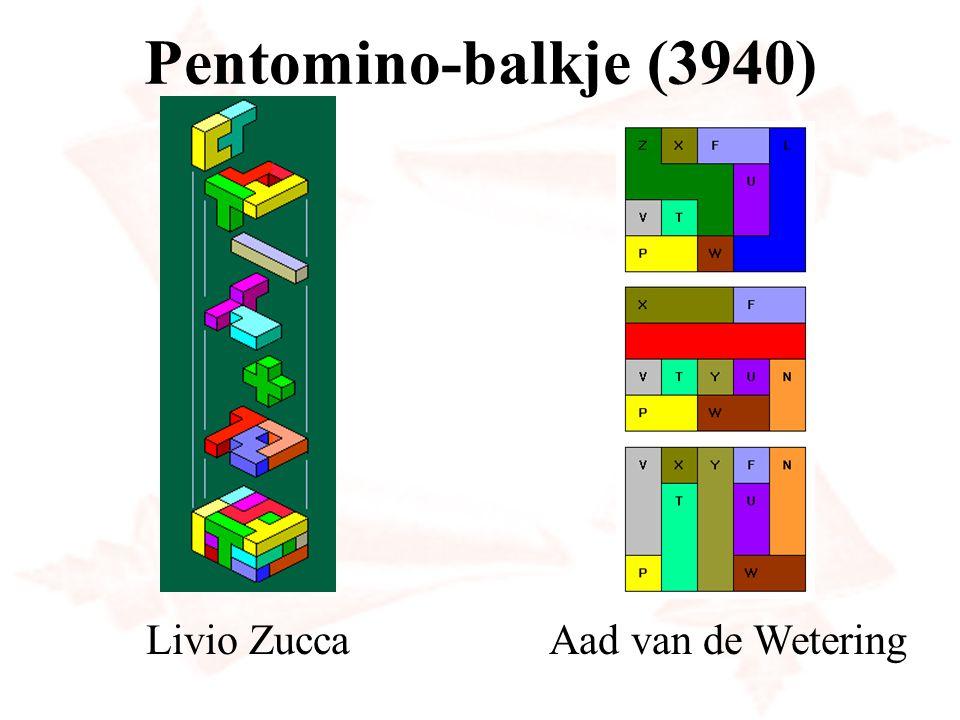 Pento verdelen in congruente delen F in 4 P-pento's N in 16 L-pento's X in 25 P-pento's