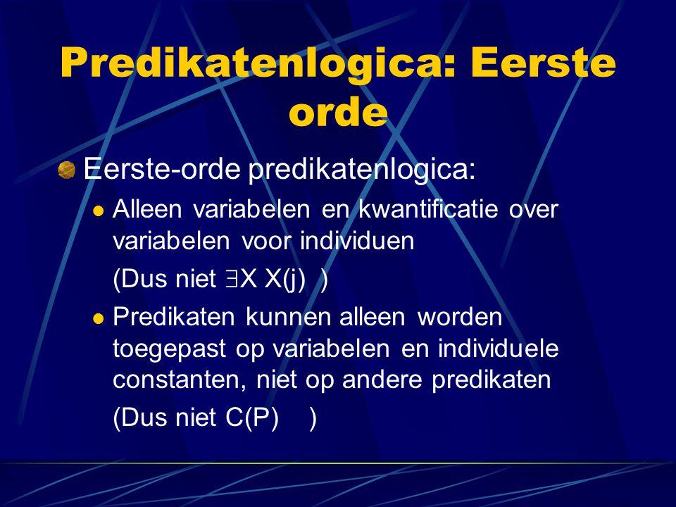 Predikatenlogica: Interpretatie Vertalingen worden zelf weer geïnterpreteerd in een model.