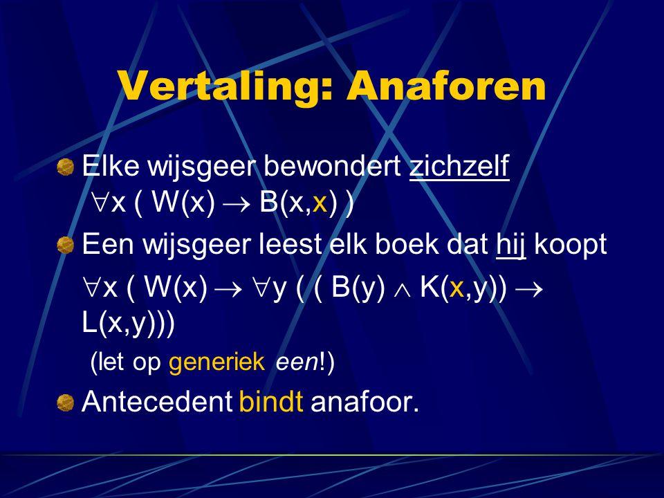 Vertaling: Online oefenen http://logic.tamu.edu/cgi-bin/quizmaster Exercises horend bij 3.2