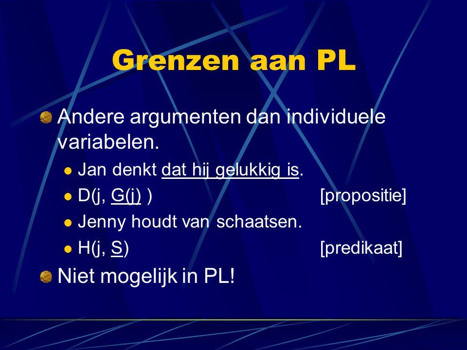 Grenzen aan PL een Nederlandse taalkundige.