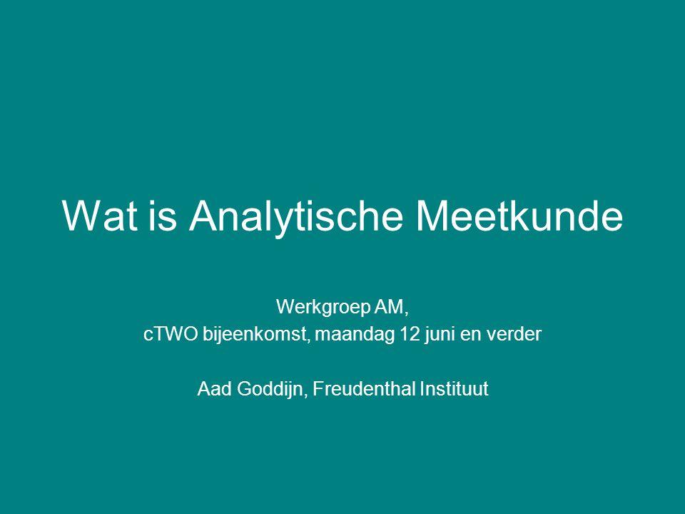 Wat is Analytische Meetkunde Werkgroep AM, cTWO bijeenkomst, maandag 12 juni en verder Aad Goddijn, Freudenthal Instituut