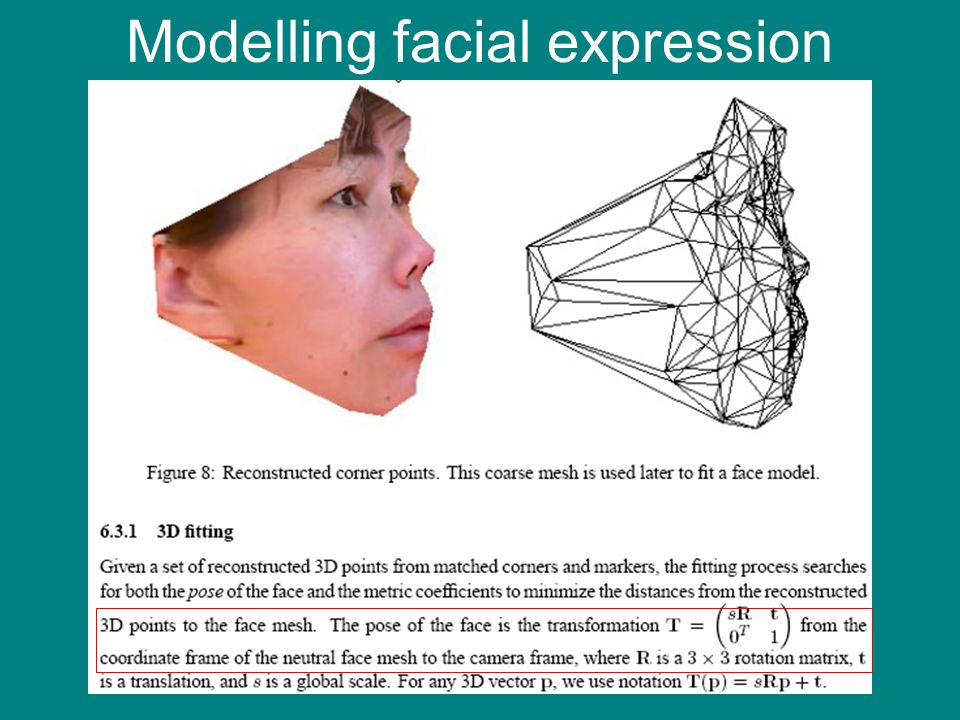 Modelling facial expression