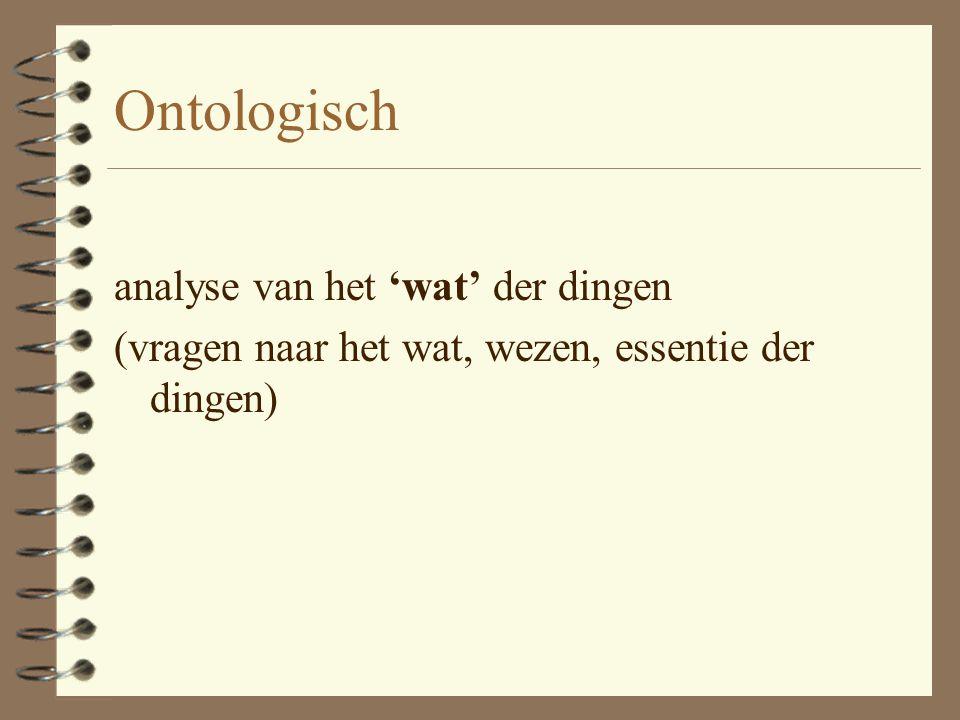 'Nieuwe theologie' Functionele analyse ipv Ontologische analyse
