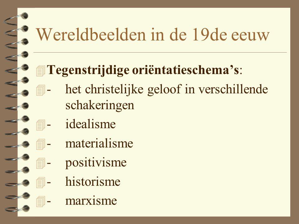 Wereldbeeld t/m de 18de eeuw 4 Tot 1789: één oriëntatieschema, namelijk het christelijke, symbiose van Bijbels geloof en Griekse metafysica