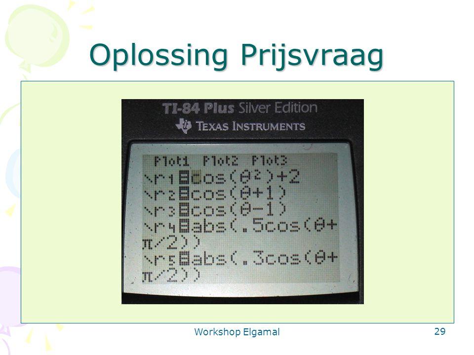Workshop Elgamal 29 Oplossing Prijsvraag Ontsleutelen is: v delen door u a u (a1+a2) is: u a1.u a2 Deel eerst door u a1 en dan door u a2 Team 1: bereken v' = Dec a1 (u, v) Team 2: bereken x = Dec a2 (u, v')