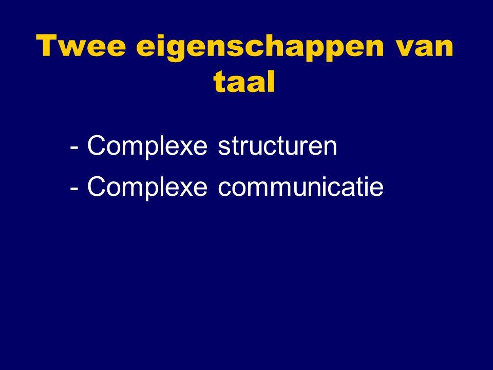 Taal en taalstructuur Structurele aspecten: Hoe zitten woorden in elkaar.