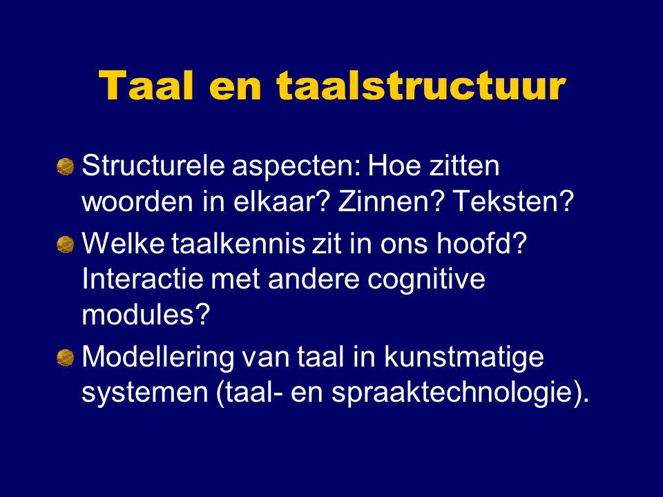 Taal en communicatie Centrale functie van taal: communicatiesysteem.