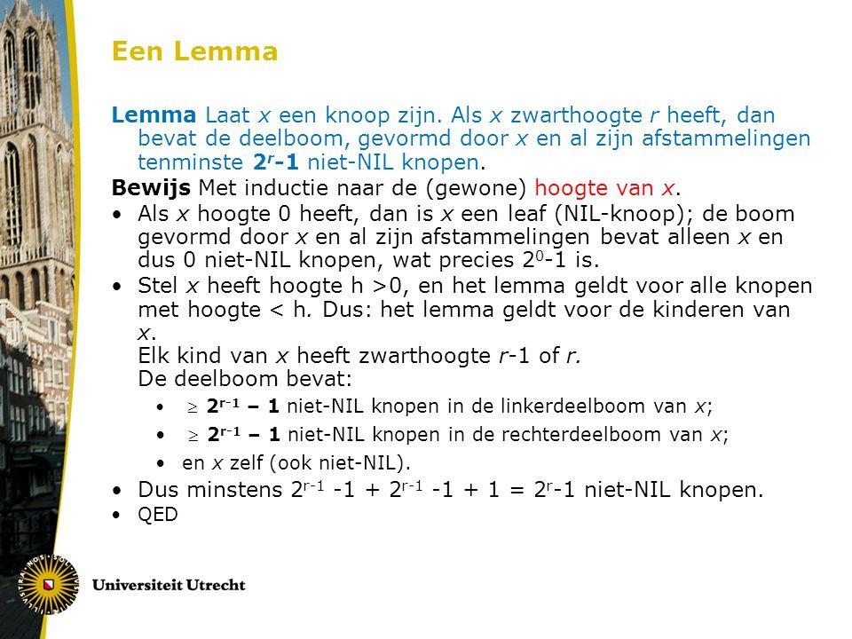 Een Lemma Lemma Laat x een knoop zijn.