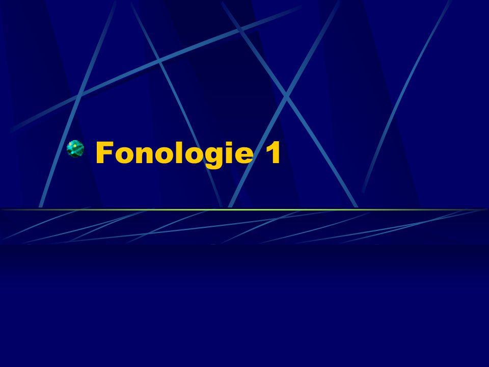 Fonologie 1