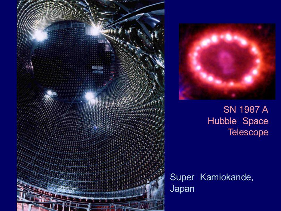 Super Kamiokande, Japan SN 1987 A Hubble Space Telescope