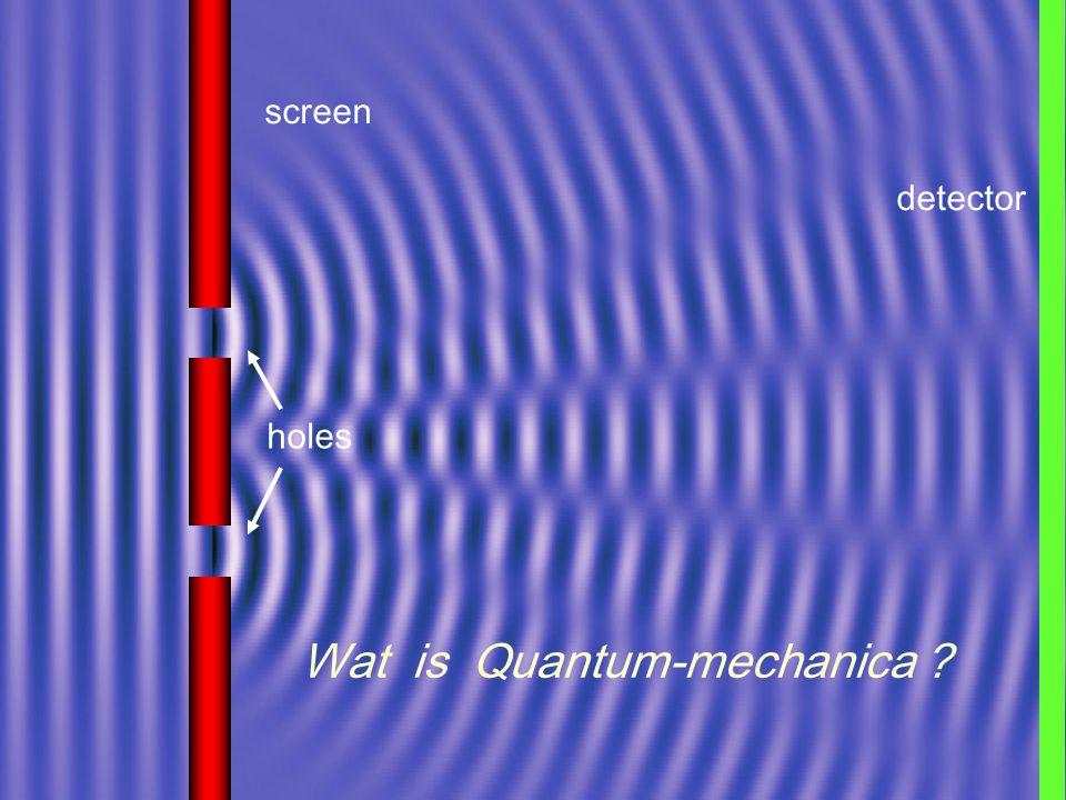 screen holes detector Wat is Quantum-mechanica ?