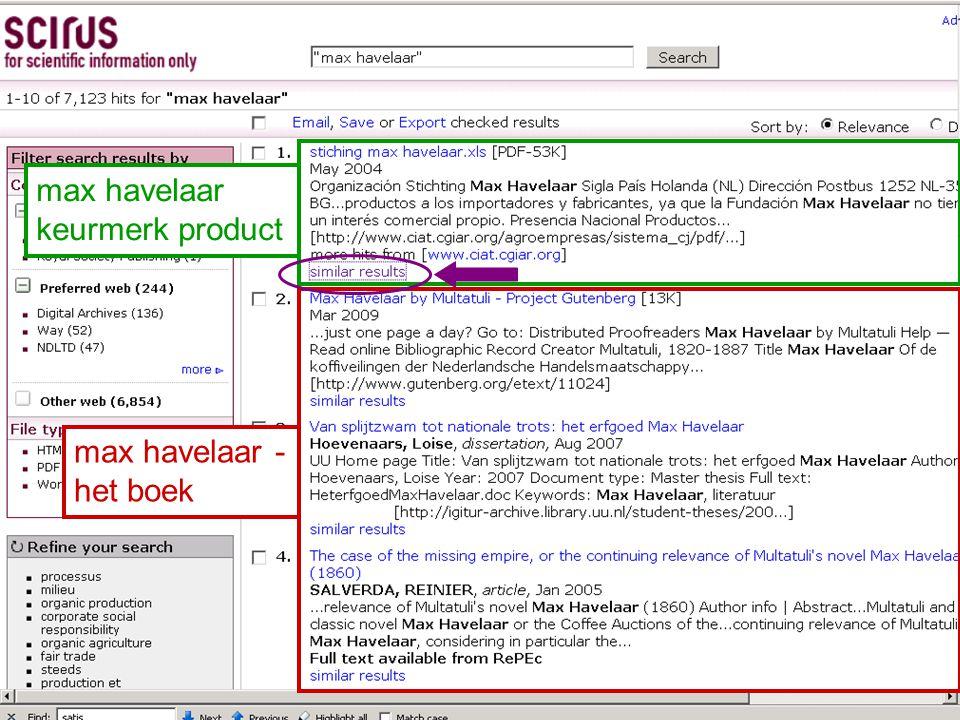 max havelaar keurmerk product max havelaar - het boek