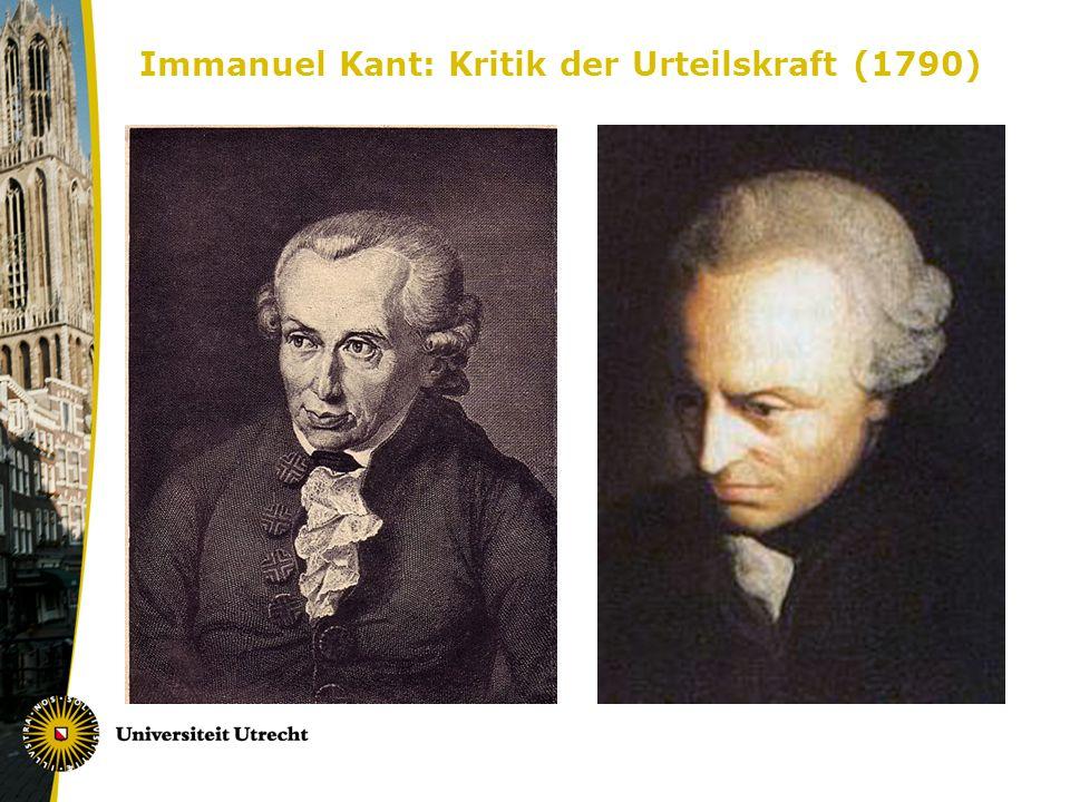 Immanuel Kant: Kritik der Urteilskraft (1790)