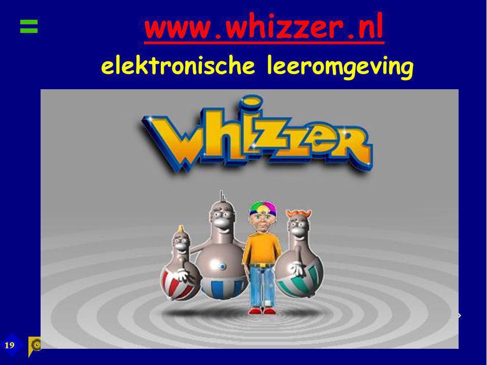 19 www.whizzer.nl elektronische leeromgevingwww.whizzer.nl