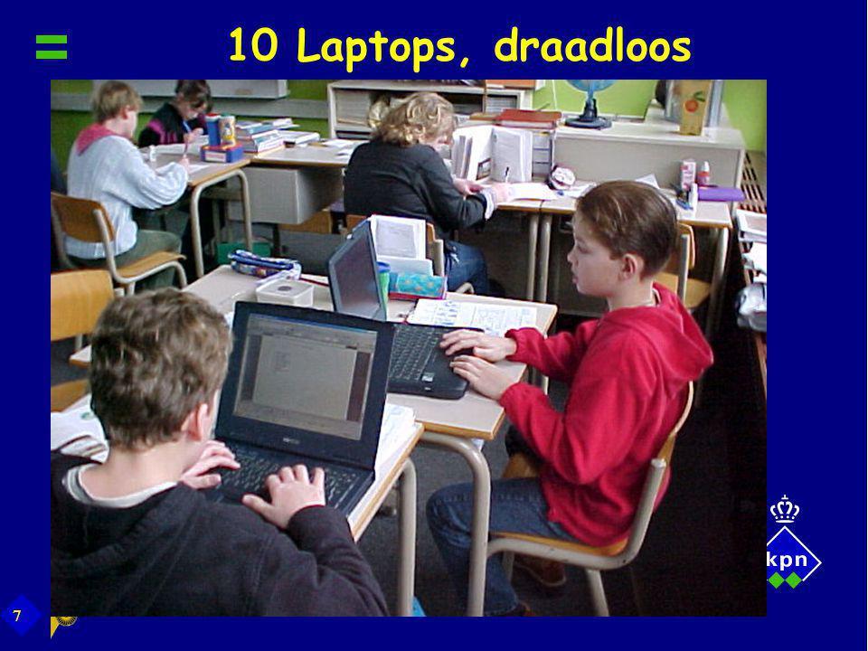 7 10 Laptops, draadloos