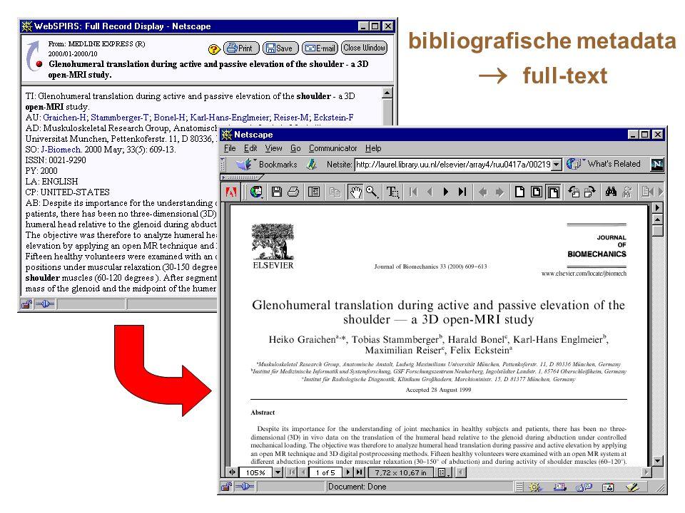 bibliografische metadata  full-text