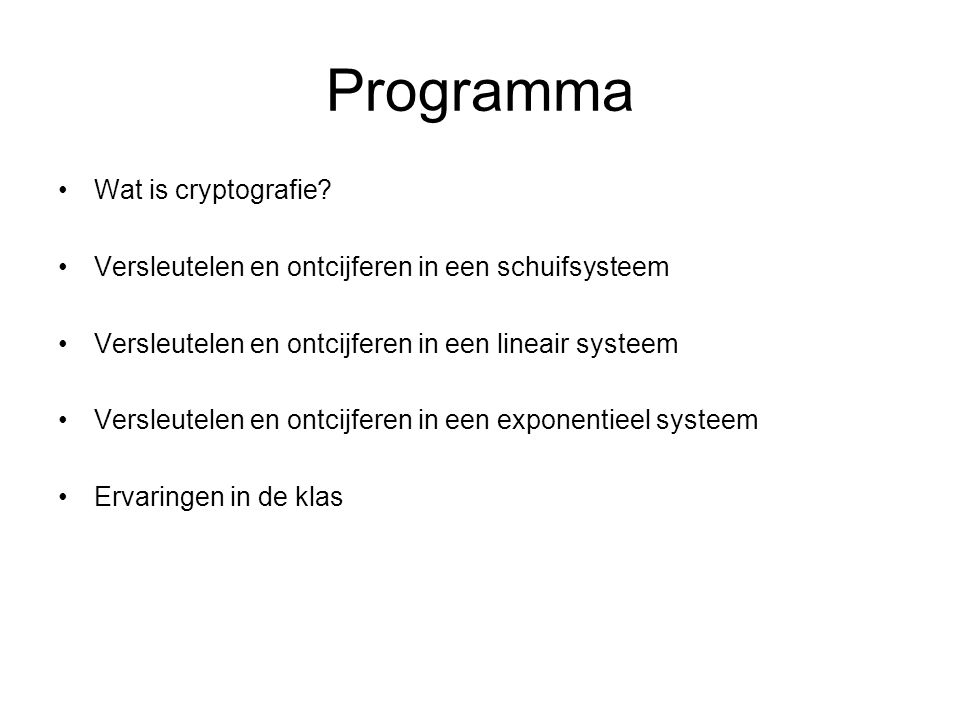 Wat is cryptografie?